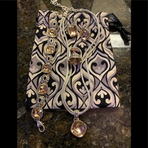 Brighton pink necklace/bracelet/ring/earrings